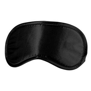 Masque noir sensuel avec sangle élastique réglable et confortable par Ouch !