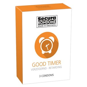 3 préservatifs retardants good timer secura