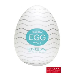 Masturbateur Tenga Egg Wavy - Nervures arrondies haut/bas