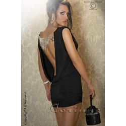 S/M mini-robe coupe basse avec bijoux Chilirose
