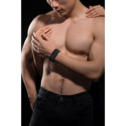 Bracelet interactif bluetooth noir de masturbation Senseband Sensemax