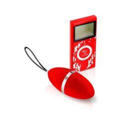 Oeuf vibrant rouge télcommandé écran LCD PlaisirSecret