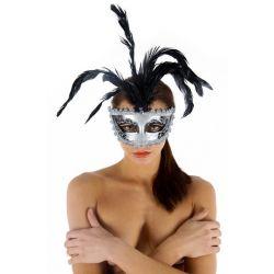Masque Nessun Dorma Gris et Noir Maskarade