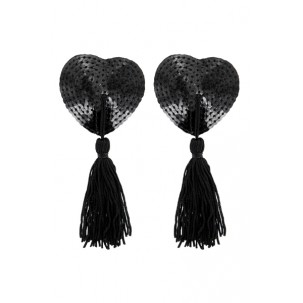 Nippies noirs avec strass