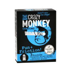 3 préservatifs XL The Crazy Monkey