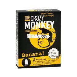 3 préservatifs Banane The Crazy Monkey